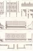 Weltausstellung 1878 - Paris - Bank - Pavillon du Minist�re des Travaux Publics (De Dartein)