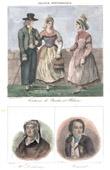 French Regional Costumes - Pays de la Loire - Nantes - Portraits - Charles-Alphonse Du Fresnoy (1611-1668) - Jacques Cassard (1679-1740)
