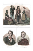 French Regional Costumes - Traditions and Folklore - Gironde - Portraits - Decazes (1780-1860) - Montesquieu (1689-1755)