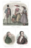 French Regional Costumes - Traditions and Folklore - Gard - Portraits - Rabaut de Saint-�tienne (1743-1793) - Guizot (1787-1874)