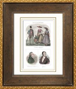 Französische Regionale Trachten - Traditionen und Folklore - Gard - Porträts - Rabaut de Saint-Étienne (1743-1793) - Guizot (1787-1874)