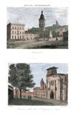 View of Miramont-de-Guyenne - View of Agen - Cathedral of Saint Caprasius - Lot-et-Garonne (France)