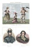 French Regional Costumes - Traditions and Folklore (Is�re - France) - Portraits - Bayard (1476-1524) - Antoine Barnave (1761-1793)