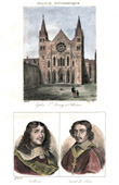 Abbey of Saint-Remi in Reims (Marne - France) - Portraits - Colbert (1619-1683) - Jean Fran�ois Paul de Gondi - Cardinal de Retz (1613-1679)