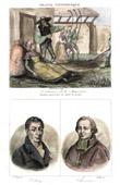 Stich von Französische Regionale Trachten - Traditionen und Folklore - Mayenne - Porträts - Volney (1757-1820) - Cheverus (1768-1836)