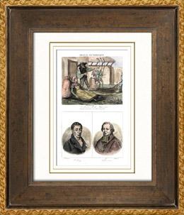 Franz�sische Regionale Trachten - Traditionen und Folklore - Mayenne - Portr�ts - Volney (1757-1820) - Cheverus (1768-1836)