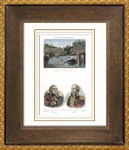 Wasserfall - Forges de Syrod (Jura - Frankreich) - Porträts - Pichegru (1761-1804) - Malet (1754-1812)