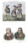 French Regional Costumes - Traditions and Folklore - Loz�re - Portraits - Rivarol (1753-1801) - Chaptal (1756-1832)