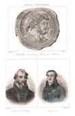 Medaillon von Tetricus I. und Tetricus II. - R�misches Reich Usurpator - Imperium Galliarum - Portr�ts - Palissy (1510-1589) - Lac�p�de (1756-1825)