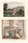 Stich von Kloster Mortemer - Französische Regionale Trachten - Traditionen und Folklore (Eure - Frankreich)