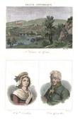 Stich von Saint-Céneri-le-Gérei (Orne - Frankreich) - Porträts - Charlotte Corday (1768-1793) - Desgenettes (1762-1837)