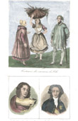 French Regional Costumes - Regions of France - Lille (North - France) - Portraits - Marceline Desbordes-Valmore (1786-1859) - Calonne (1734-1802)