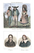 French Regional Costumes - Traditions and Folklore - Ni�vre - Portraits - Andr� Dupin (1783-1865) - Ma�tre Adam - Adam Billaut (1602-1662)