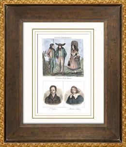 Franz�sische Regionale Trachten - Traditionen und Folklore - Ni�vre - Portr�ts - Andr� Dupin (1783-1865) - Ma�tre Adam - Adam Billaut (1602-1662)
