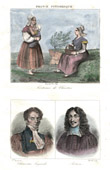 French Regional Costumes - Traditions and Folklore (Chartres - Eure-et-Loir) - Portraits - Chauveau-Lagarde (1765-1841) - Rotrou (1609-1650)