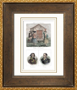 Franz�sische Regionale Trachten - Traditionen und Folklore - H�rault - Portr�ts - Cambac�r�s (1753-1824) - Daru (1767-1829)