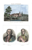 Commandry of Arville (Loir-et-Cher - France) - Portraits - Chevert (1695-1769) - Oudinot (1767-1847)