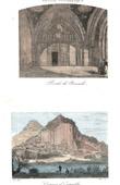 Stich von Saint-Julien de Brioude Basilika - Torbau - Romanik - Orgues d Expailly (Haute-Loire - Frankreich)