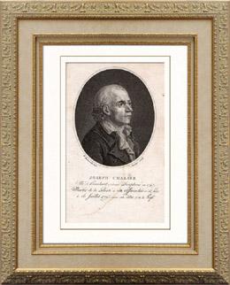 Portr�t von Marie Joseph Chalier (1747-1793) - Franz�sisch Revolution�r - Guillotine