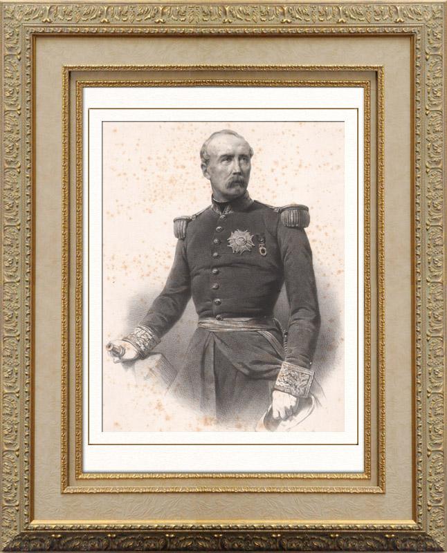 Gravures Anciennes & Dessins   Portrait de Patrice de Mac Mahon - Maréchal de France - Président République française (1808-1893)   Lithographie   1865