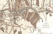 Antique map - Napoleonic Wars - The Battle of Smolensk (1812)