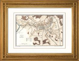 Karte - Schlachtfeld bei Borodino (1812) - Russland - Napoleon I. - Feldzug in Russland - Koalitionskriege