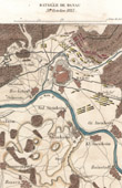 Antique map - Napoleonic Wars - Battle of Hanau (1813) - Campaign in Germany - Sixth Coalition