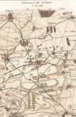 Antique map - Napoleonic Wars - Campaign in Germany - Battle of L�tzen (1813)