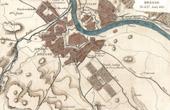 Ancienne carte - Guerres Napoléoniennes - La Bataille de Dresde - Mort de Moreau (1813)