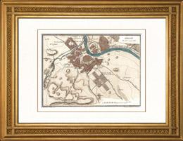Alte Plan - Napoleonische Kriege - Koalitionskriege - Die Schlacht von Dresden - Tod von Moreau (1813)
