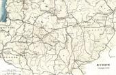 Ancienne carte de la Russie (1812) - Campagne de Russie - Napoléon Ier - Guerres napoléoniennes