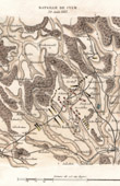 Antique map - Campaign in Germany - Napoleonic Wars - Battle of Kulm (1813)