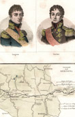 Portraits - Langeron (1763-1831) - Saacken - Antique map - Napoleonic Wars - Battle of Berezina - Campaign in Russia (1812)