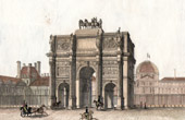 View of Paris - Arc de Triomphe du Carrousel - Napoleon - Bonaparte - Historic Monument