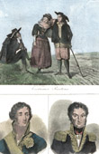 French Regional Costumes - Traditions and Folklore -Brittany - Portraits - Fouch� (1759-1820) - Cambronne (1770-1842)