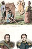 Stich von Russische Tracht  - Kostüme - Spielen - Russische Mode - Russland - Porträts - Jean-Henri Dombrowski (1755-1818) - Samuel Różycki (1781-1834)