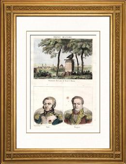 Napoleonische Kriege - Denkmal - Dresden - Tod von Moreau - Portr�ts - Louis Lepic (1765-1827) - Pierre Margaron (1765-1824)