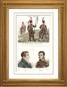 Militärkleidung - Frankreich - Kaiserliche Garde - Litauen - Tataren - Porträts - Frederick d'York (1763-1827) - Mikhaïl Semionovitch Vorontsov (1782-1856)