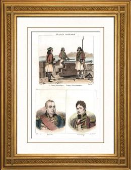Milit�rkleidungen - Britischerarmee - Ionische Inseln - Portr�ts - Edward Pellew Viscount Exmouth (1757-1833) - Thomas Trowbridge (?-1807)