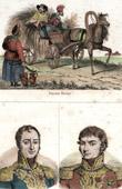 Stich von Russische Bauern (Russland) - Porträts - Auguste Jean-Gabriel de Caulaincourt (1777-1812) - Claude Antoine Hippolyte de Préval (1776-1853)