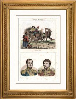 Russische Bauern (Russland) - Portr�ts - Auguste Jean-Gabriel de Caulaincourt (1777-1812) - Claude Antoine Hippolyte de Pr�val (1776-1853)