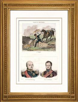 Sprengstoff - Waffe - Fougasse - Portr�ts - Alexis-Fr�d�ric-Christian d'Anhalt-Bernbourg (1767-1834) - Kleist de Hollendorf (1762-1823)