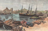 View of Marseille - The Old Port (France)