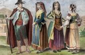 Traditional Costume - Italy - Siena - Ischia - Capri - Procida (19th Century - XIXth Century)