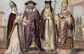 Religious Costume - Italy - Vatican - Pope - Cardinal - Canon - Priest - Archbishop (Middle Ages)