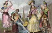 Traditionelle Kleidung - Indien - Myanmar - Tänzerin - Frau der Raja - Frau der Großmogul