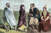 Grabado antiguo - Traje Típico - Argelia - Bereberes - Imazigh - Judío de Argel