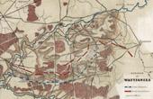 Antique map - French Revolutionary Wars - Battle of Wattignies (1793) - Austria