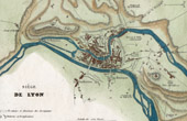 Antique map - French Revolutionary Wars - Insurrection of Lyon (1793)