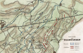Antique map - French Revolutionary Wars - Battle of Neerwinden (1793)